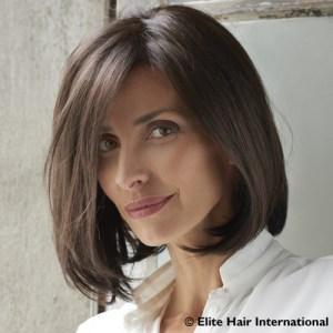 perruque brune carré long tendance