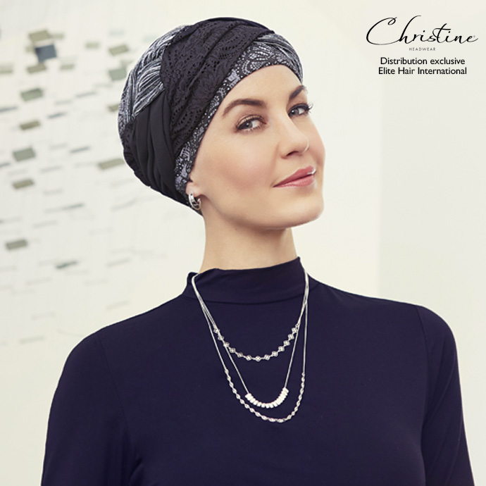 bonnet volumineux motif noir
