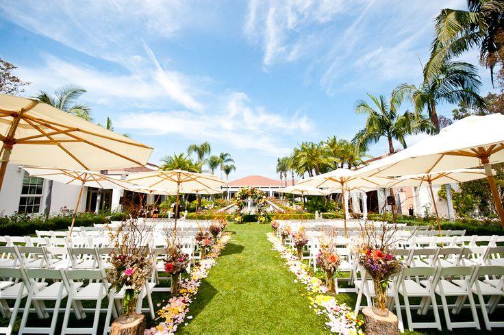 Umbrellas for wedding ceremony embellished events sc