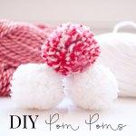 Easy DIY yarn pom poms using a fork!