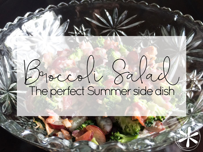 This cool and crisp broccoli salad is the perfect summer side dish.