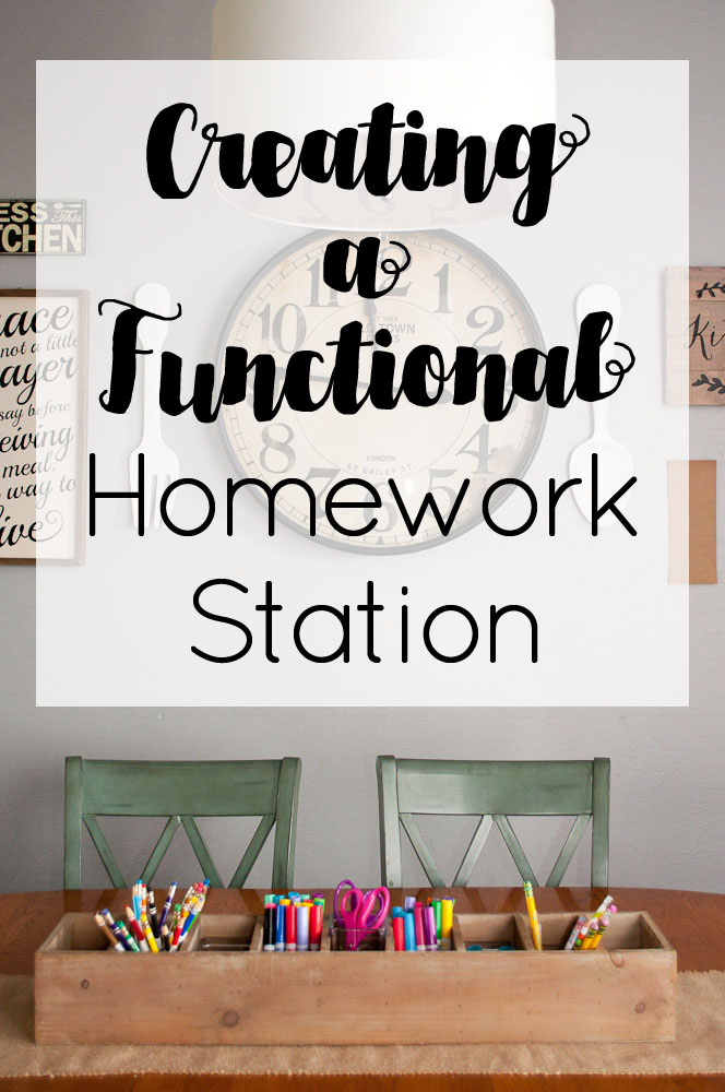 Whether you have a dedicated desk or the kitchen table, having a functional homework station with everything your child(ren) needs right at their fingertips will ensure homework gets done in a timely manner so you can have more family time during the school year.