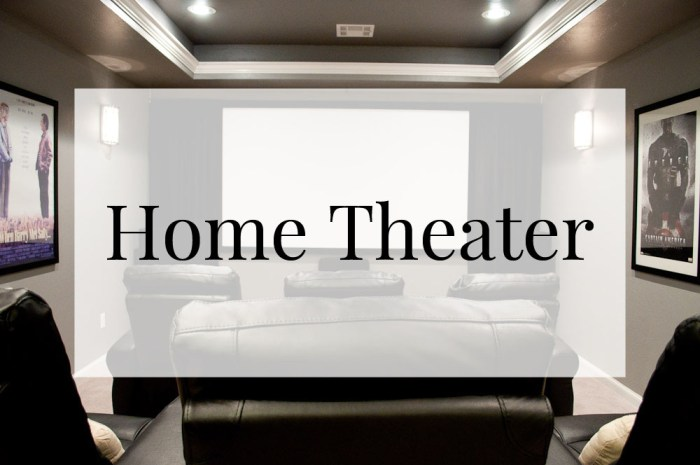 Home Tour: Theater Room