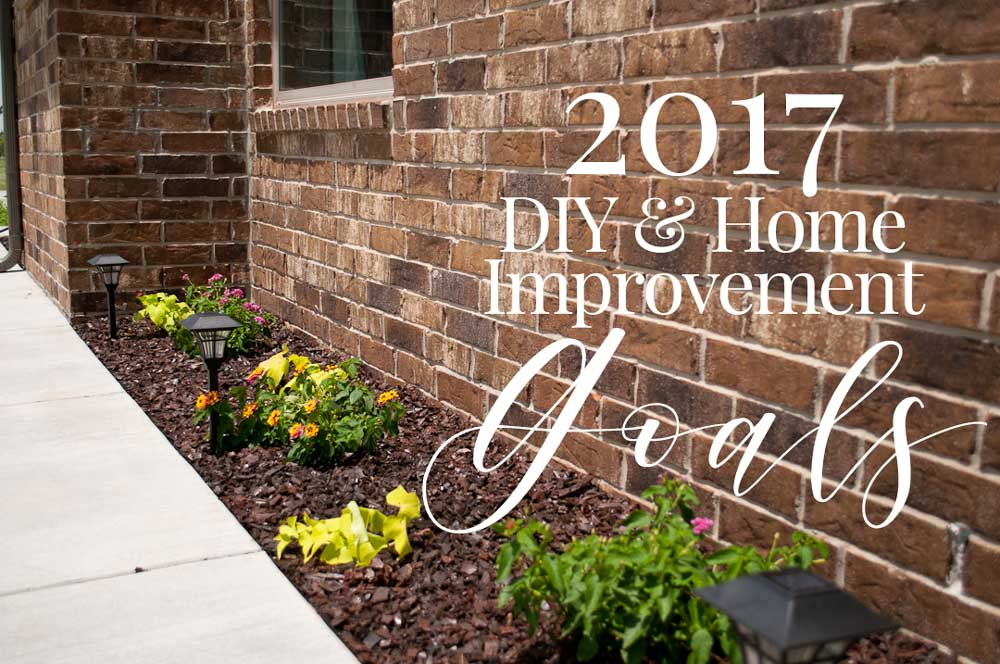 2017 DIY & Home Improvement Goals