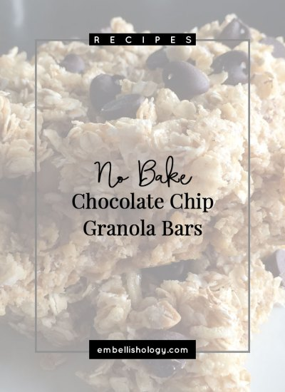 If there's one snack that I must keep in this house, it's granola bars. And if I'm being totally honest, I prefer these homemade granola bars over the store bought kind. An even added bonus is that it's cheaper to make them yourself!