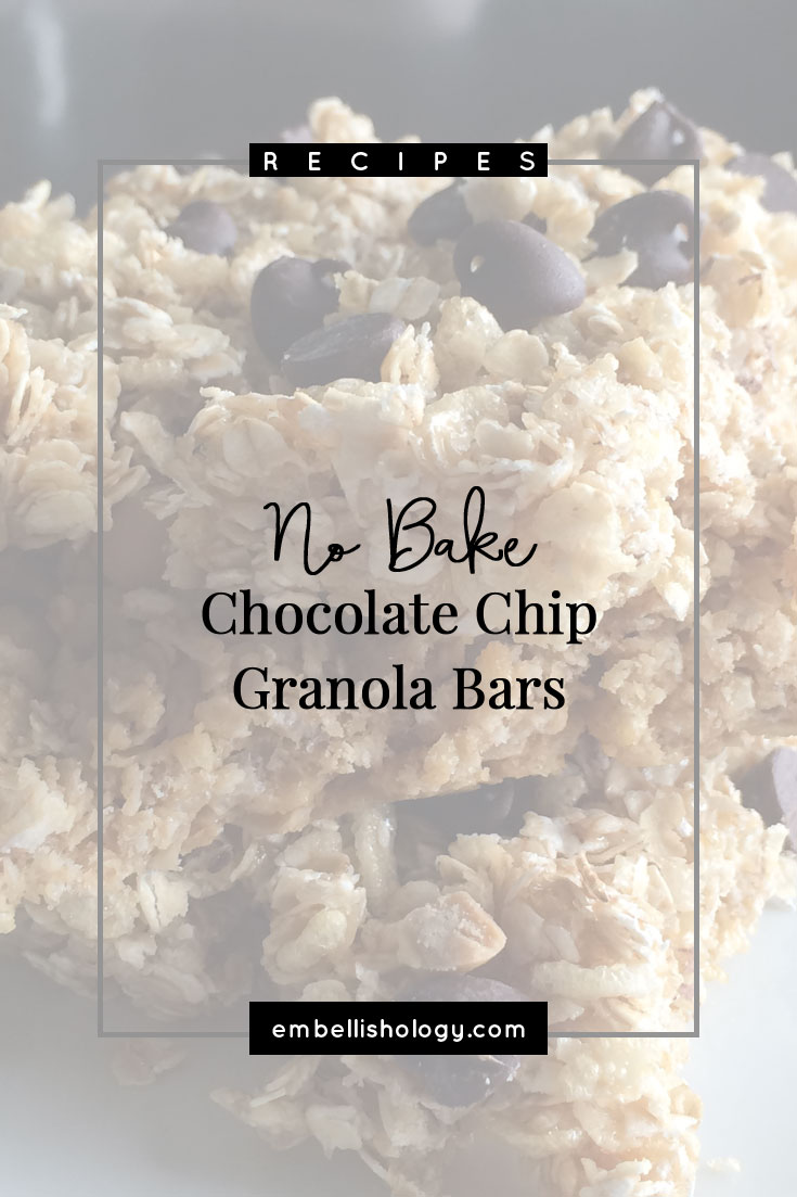 Granola bars are a must have snack in our house. And if I'm being totally honest, I prefer these homemade granola bars over the store bought kind. An even added bonus is that it's cheaper to make them yourself!