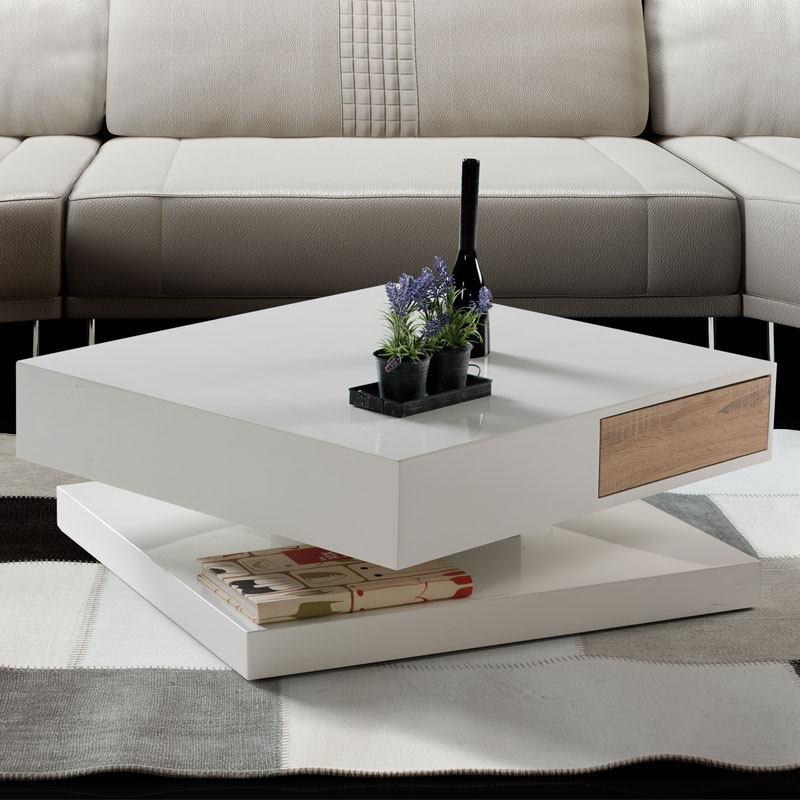 table basse design blanche bois emberizaone fr