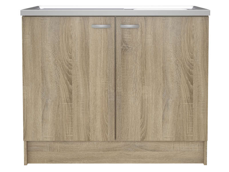 meuble sous evier cuisine 100 cm emberizaone fr