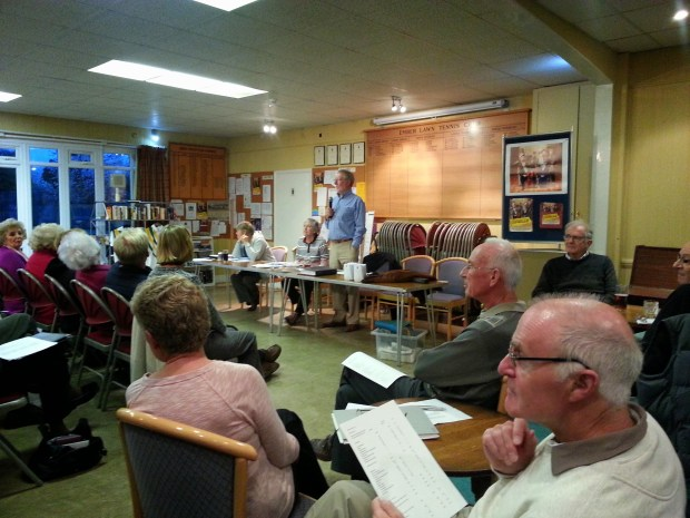 A full pre-season meeting for Ember Bowls Club