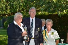 Captain Bill with the Ladies' Pairs Champions