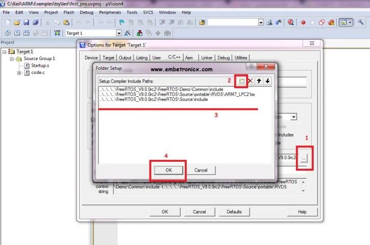 freertos5 LPC2148 - FreeRTOS Porting with Keil IDE