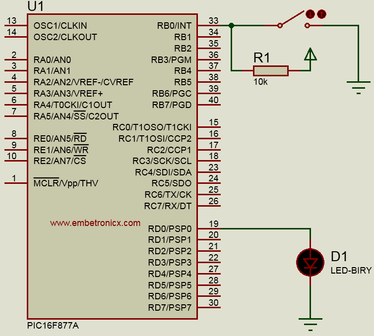 Pic16f877a interrupt tutorial external timer uart intr embetronicx circuit diagram ccuart Choice Image