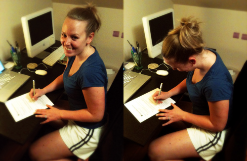 signing publishing contract with HarperCollins