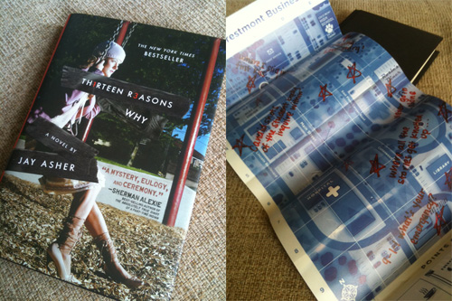 Thirteen Reasons Why, with and without jacket