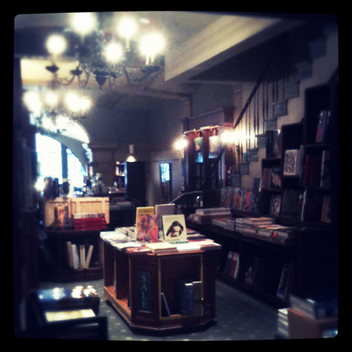 a gorgeous three-floor bookstore i wandered into