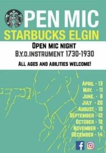 Open Mic Night @ Starbucks Elgin