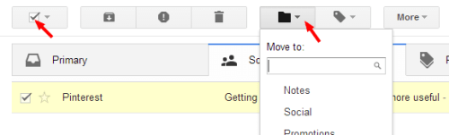 filing emails in gmail