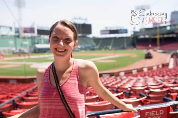 Katie in Fenway Park