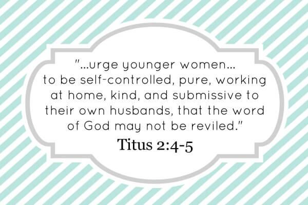 Titus 2: 4-5