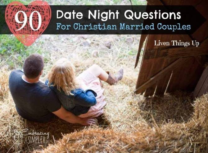 Date Night Questions for Christian Married Couples