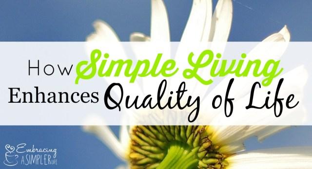 how simple living enhances quality of life FB