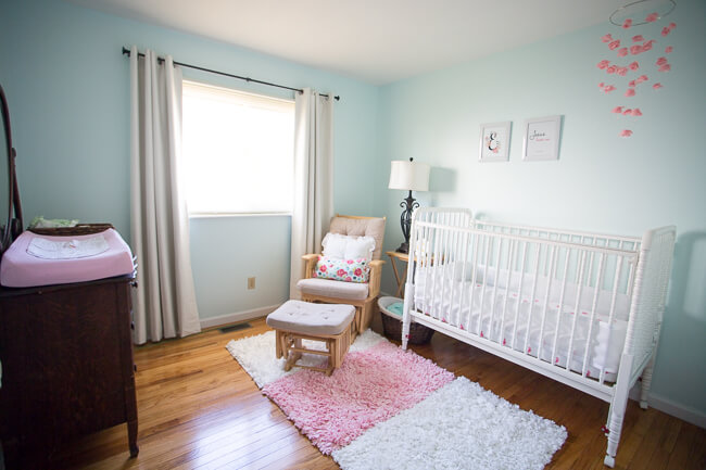 beautiful minimalist nursery