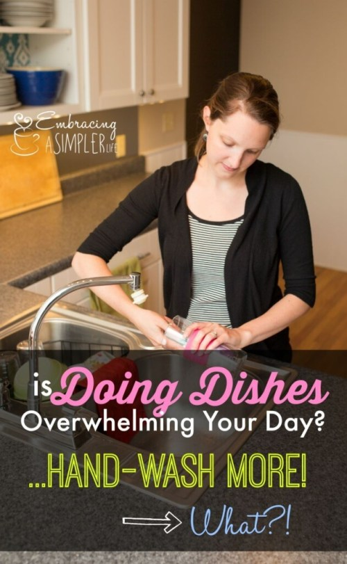 is doing dishes overwhelming your day