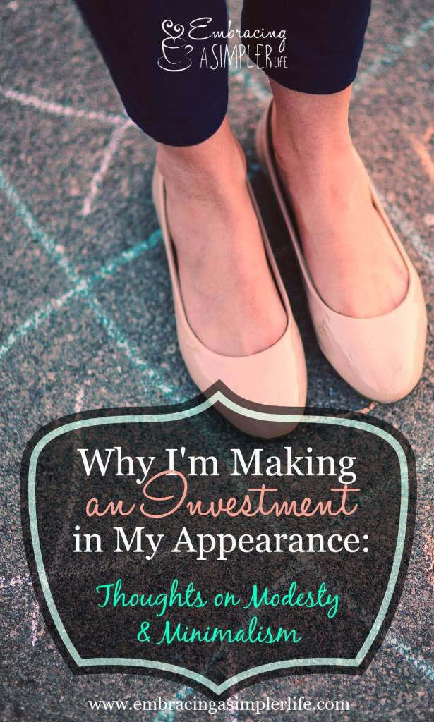 why I'm making an investment in my appearance