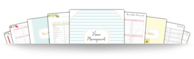 Home Management Binder Pages 3D