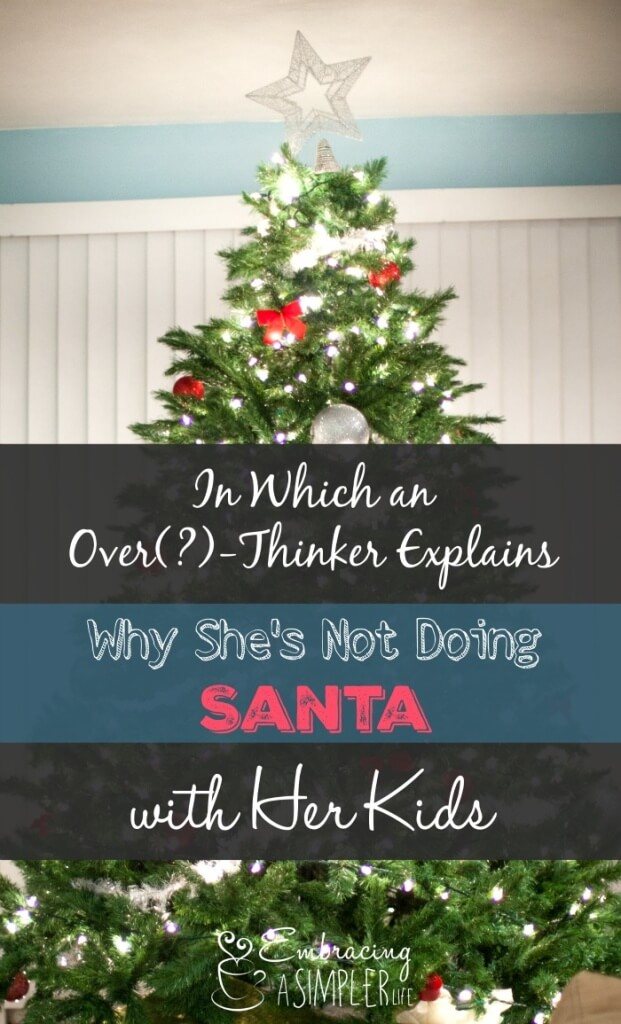 in which an over-thinker explains why shes not doing santa with her kids 2