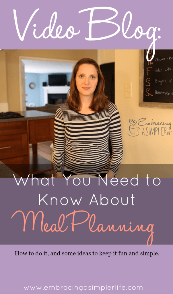 video blog what you need to know about meal planning