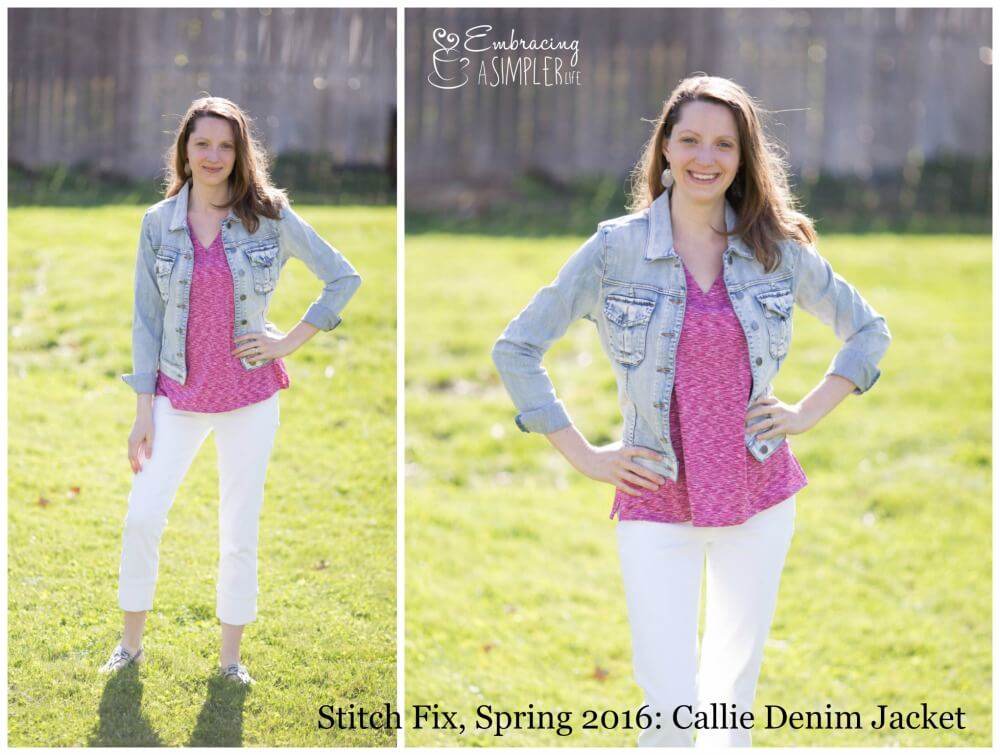 Stitch Fix Spring 2016 Callie Denim Jacket