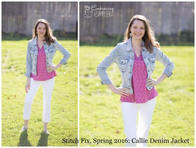 Stitch Fix Spring 2016 Callie Denim Jacket
