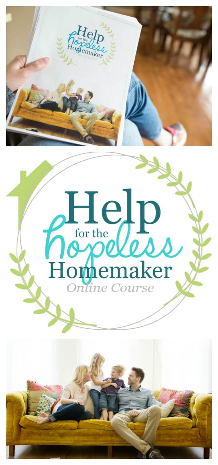 help for the hopeless homemaker online course