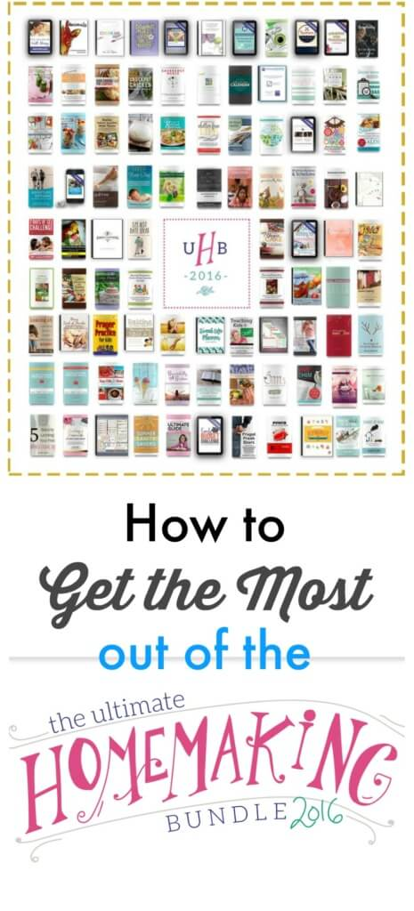 how to get the most out of the ultimate homemaking bundle