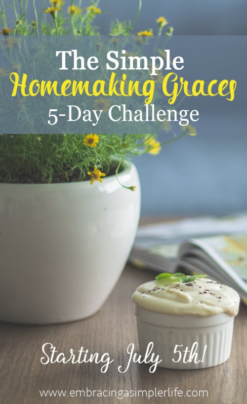 Simple Homemaking Grace 5-Day Challenge