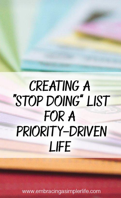 Stop Doing List