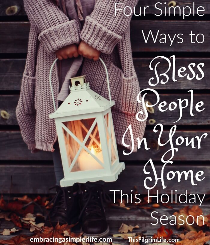 No matter how big your house is (or isn't). Regardless of what you cook (or order in). Even if your kids are crazy, or you are tired, or your to-do list goes unfinished another day. You can offer up your home as a space to bless others this holiday season.