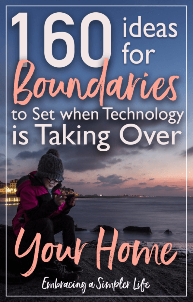 160 ideas for technology boundaries to set