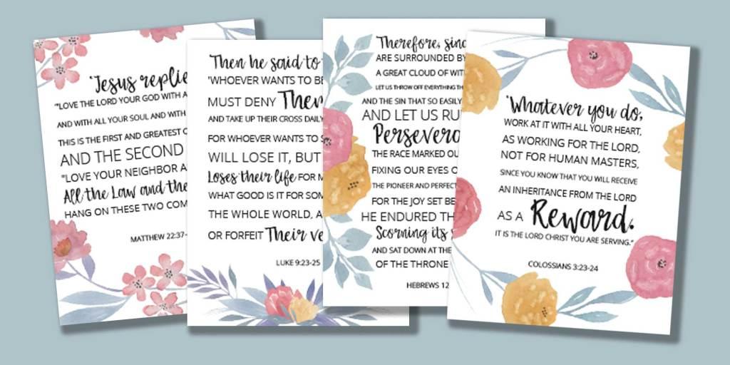 Eternal Perspective Bible Verses art prints