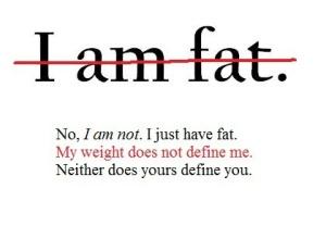 I am fat