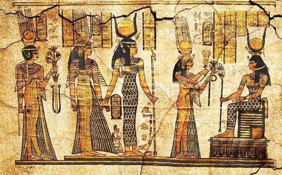 Papyrus sheet of Egyptian Deities