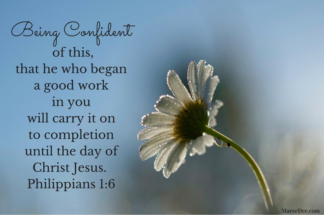 Being Confident in Christ Jesus
