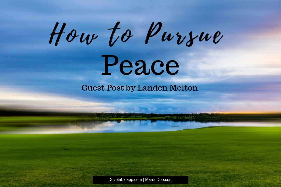 How to Pursue Peace Without the Details - Guest Post by Landen Melton