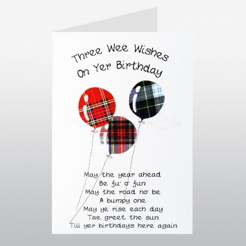 Scottish Birthday Card Balloons WWBD35 Scottish Birthday