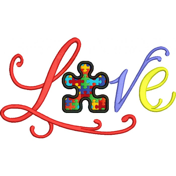 Download Love Someone with Autism Applique Machine Embroidery ...