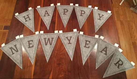 Happy New Year pennant banner