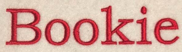 Bookie Lettering Embroideryware vs Wilcom Hatch