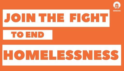Join the fight to end homelessness - Homelessness Week 2019