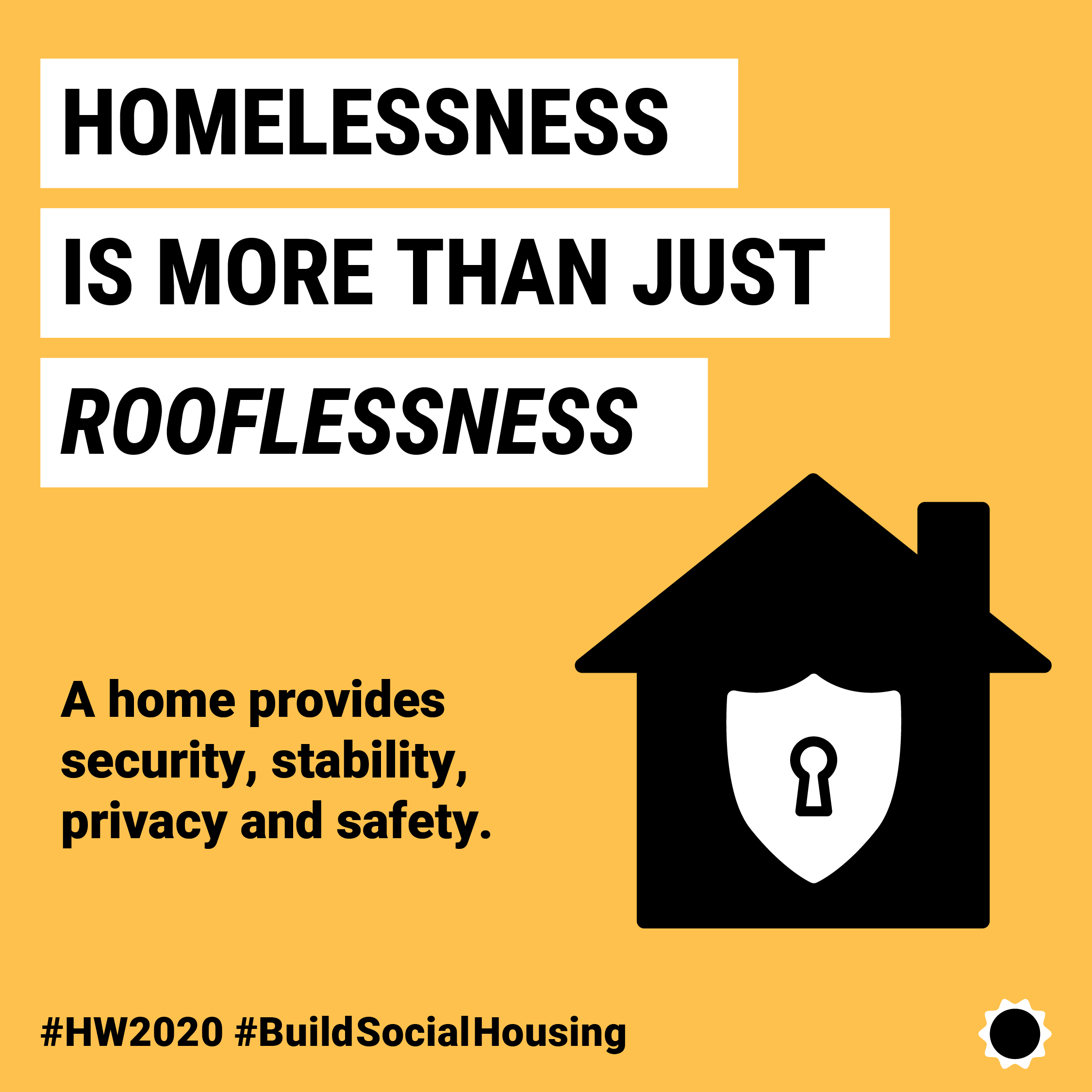 Homelessness is more than just rooflessness. A home provides a sense of security, stability, privacy and safety